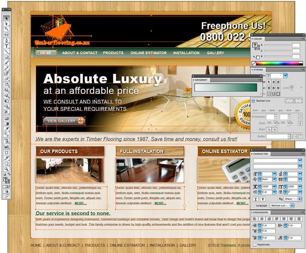 vector illustrator web design