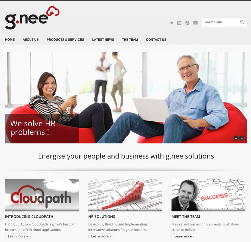 NZ IT company website home page