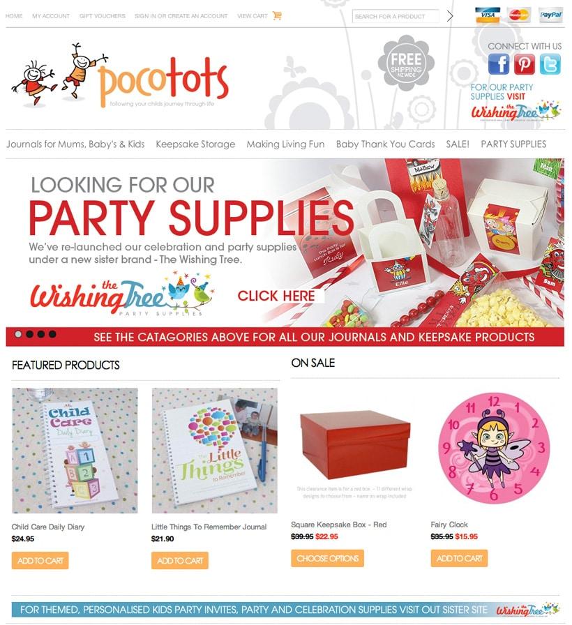 Pocotots NZ website