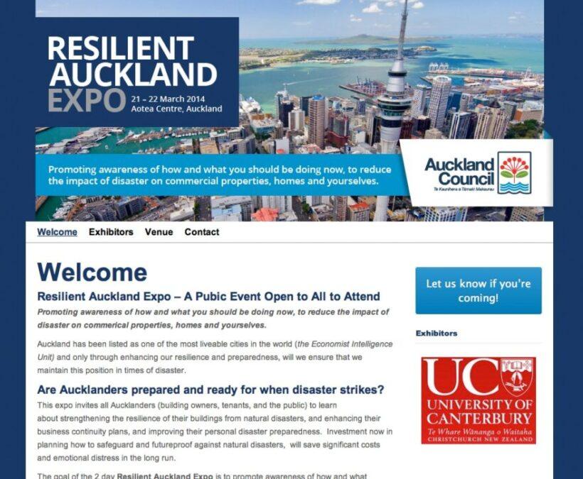 Auckland Expo website design