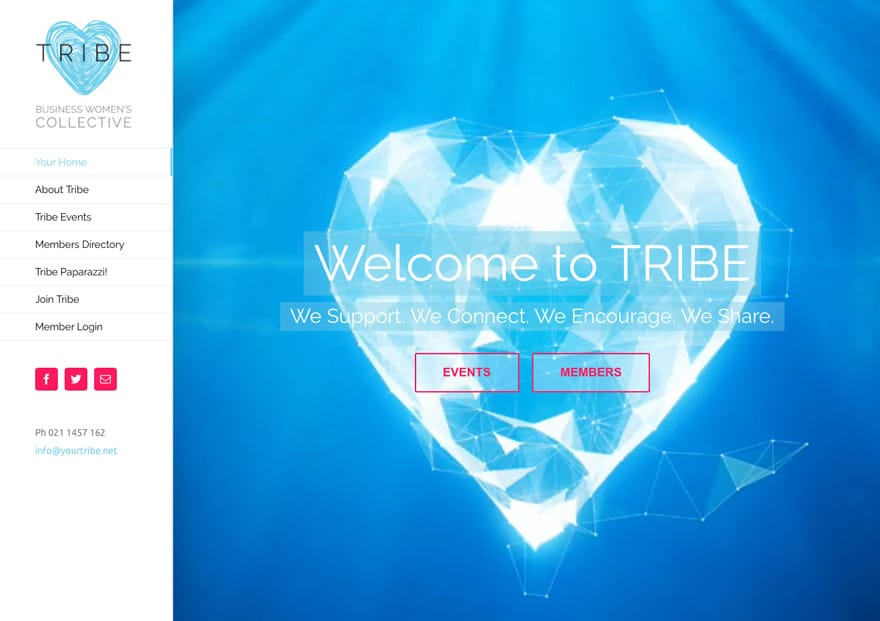 Tribe womens collective wordpress website design