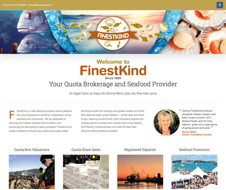 FinestKind in Nelson wordpress website
