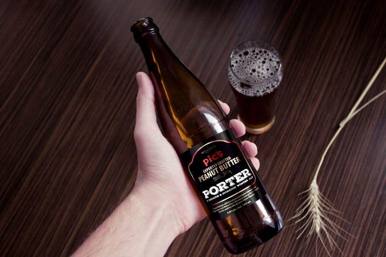 Pic's Peanut Butter Macashins beer label design