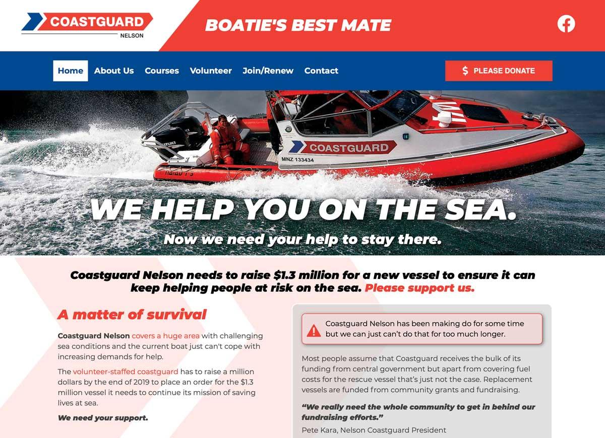 Coastguard charity website design