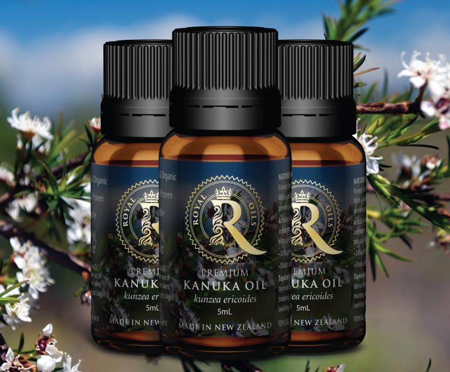 Royal Oils label design NZ