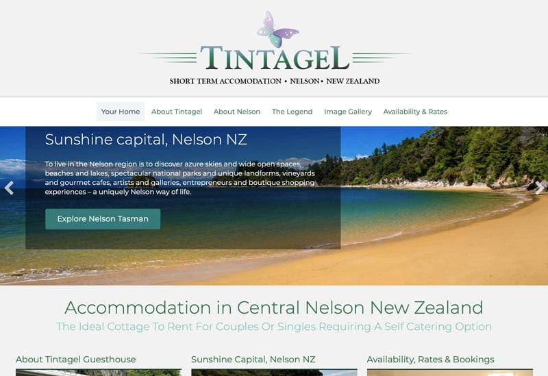 tintagel holiday home nelson