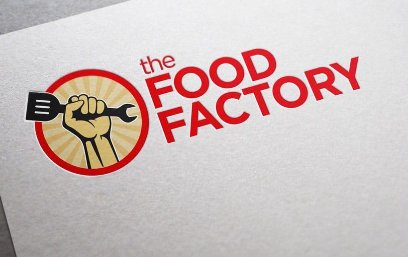 food factory logo design