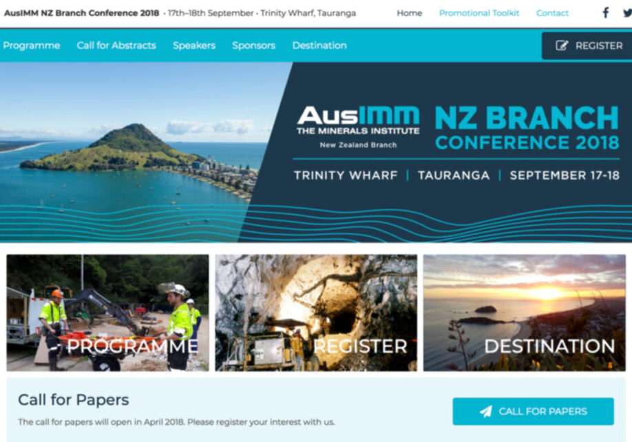 AusIMM conference website design