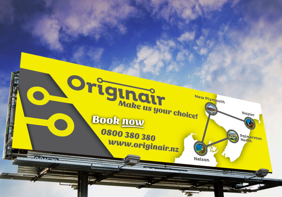 Originair billboard graphic design Nelson