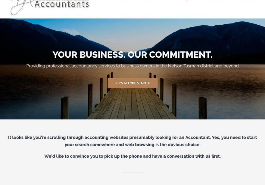 Brown and Associates wordpress web sample 2