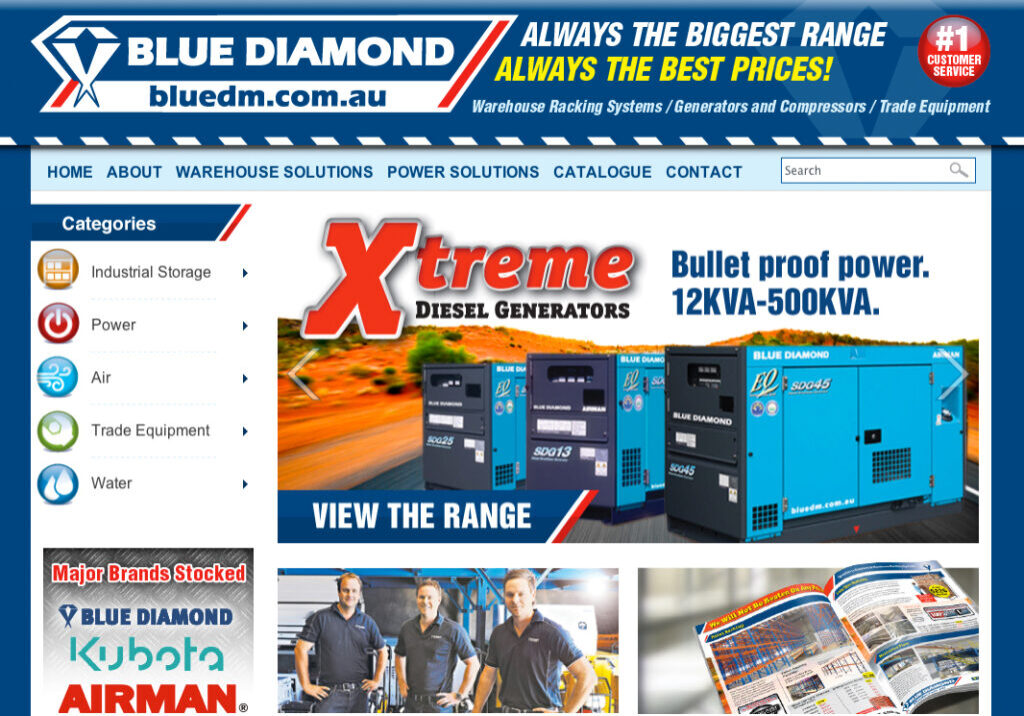 Blue diamond bigcommerce home page 3