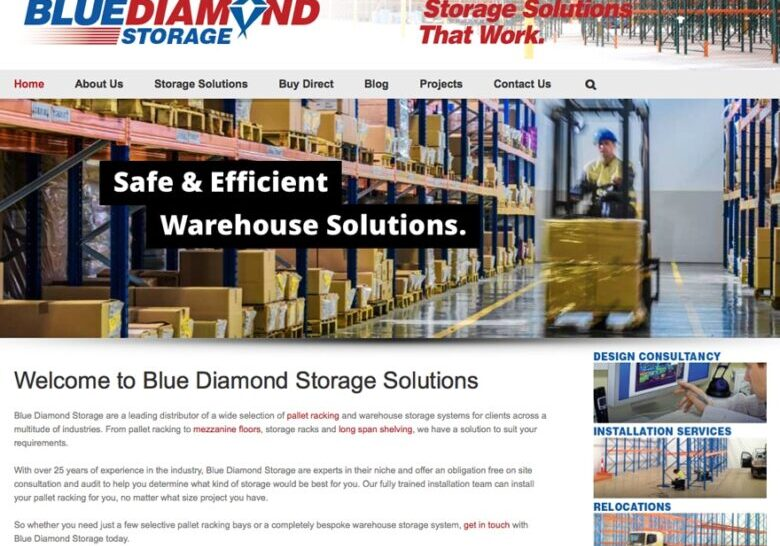 Perth storage solutions wordpress website