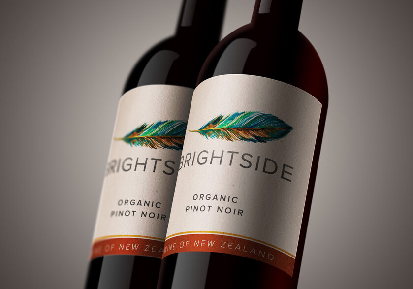 Brightside wine label design