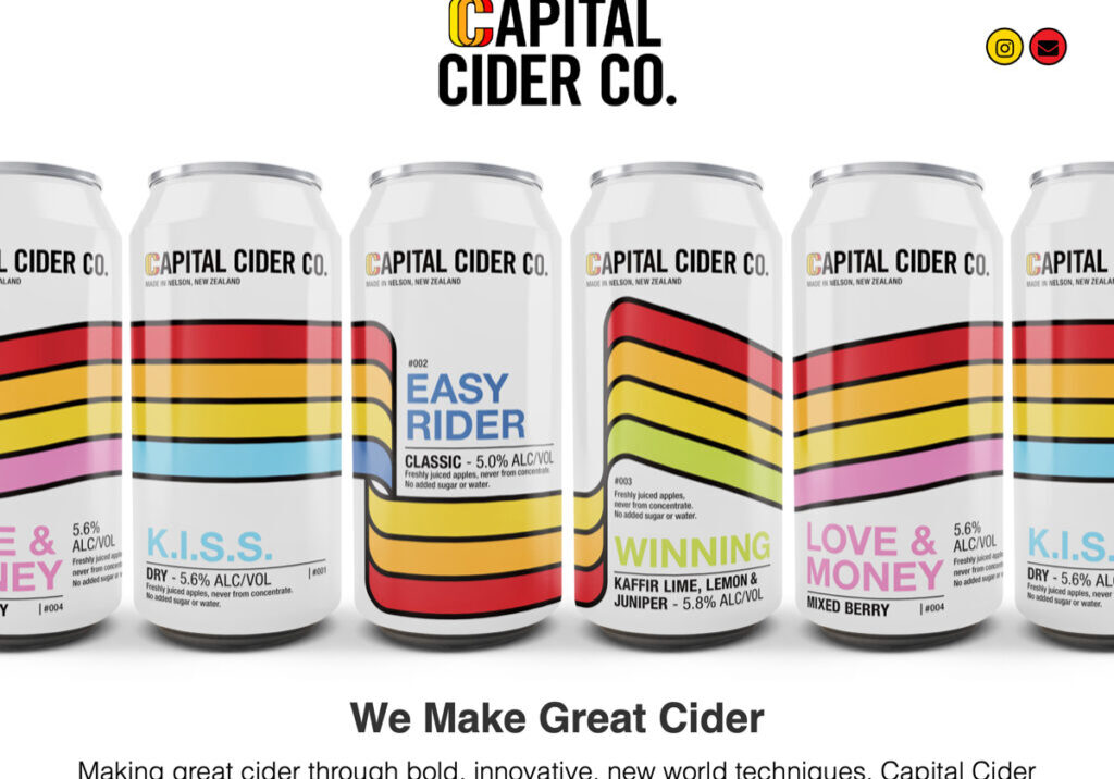 Cider NZ web design