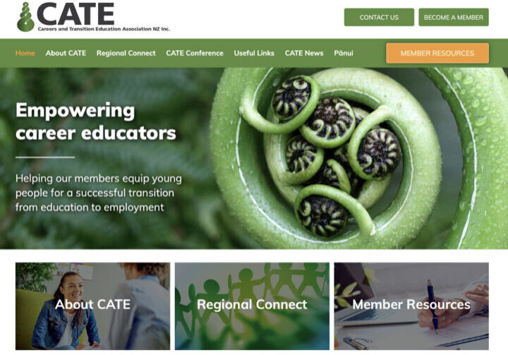 CATE website home page design