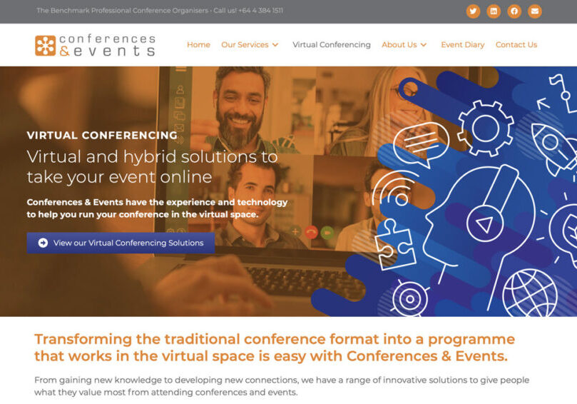 Events NZ wordpress website design