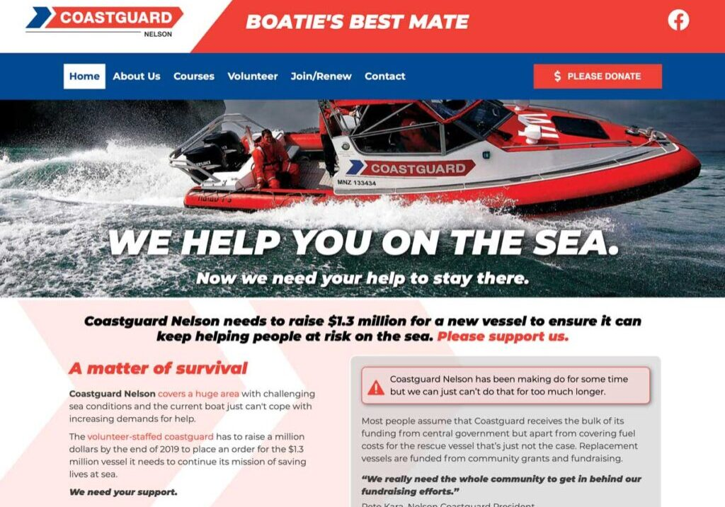 Coastguard charity website design