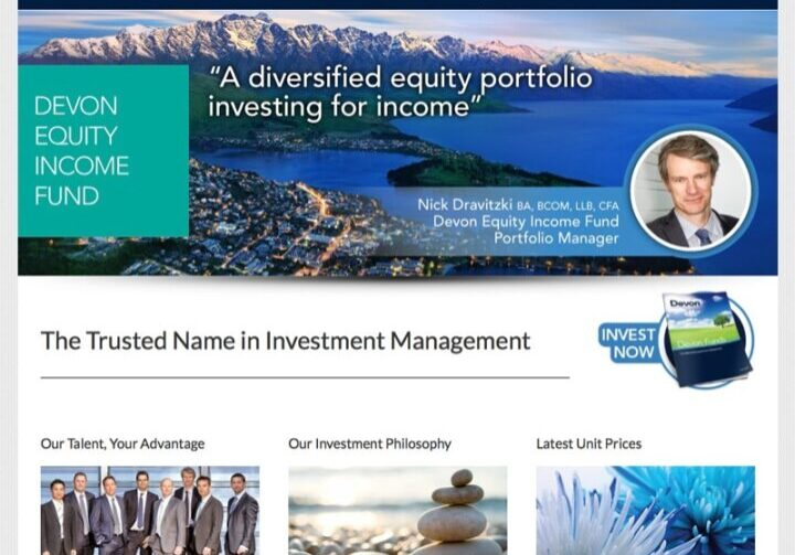 funds Management wordpress homepage sample