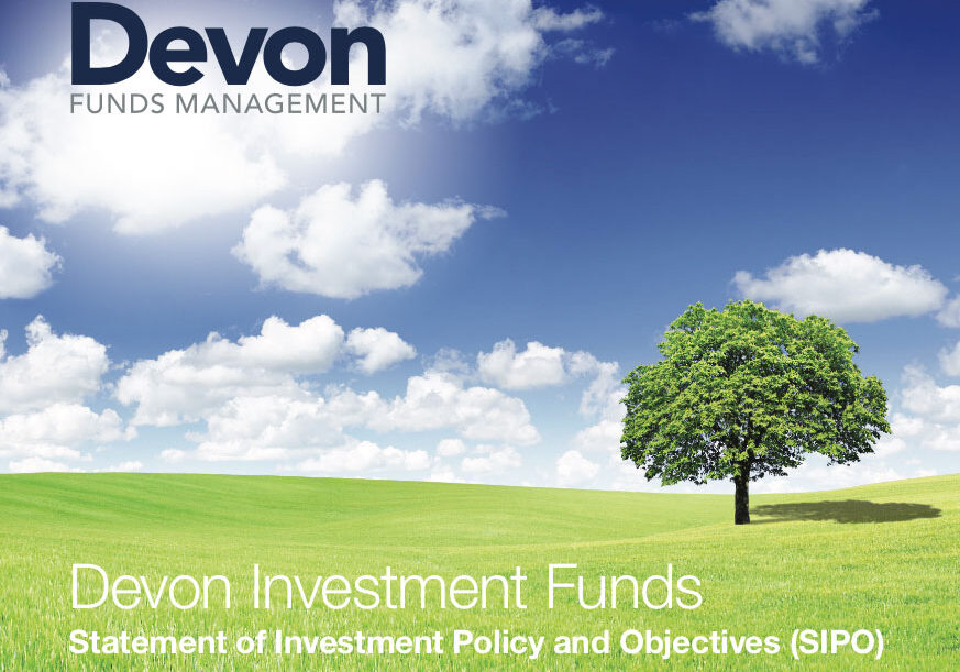 Devon Funds investment statement graphic design
