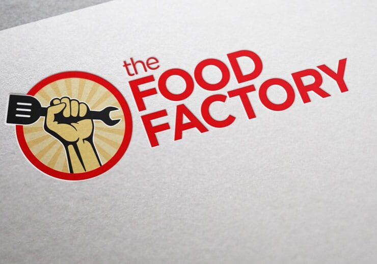 food factory logo design