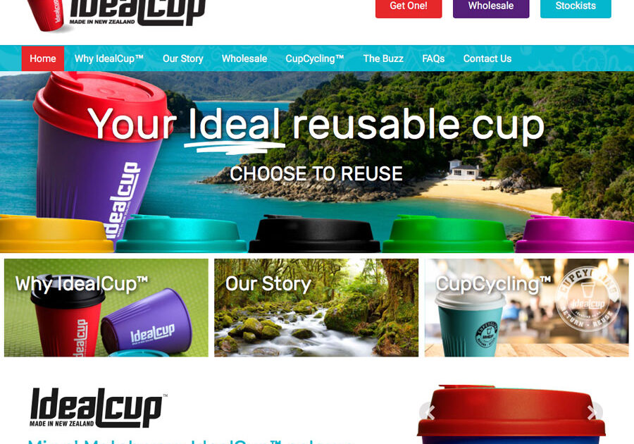 IdealCup Motueka website design