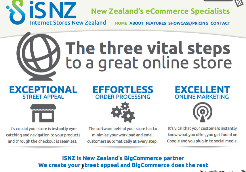NZ internet shop design
