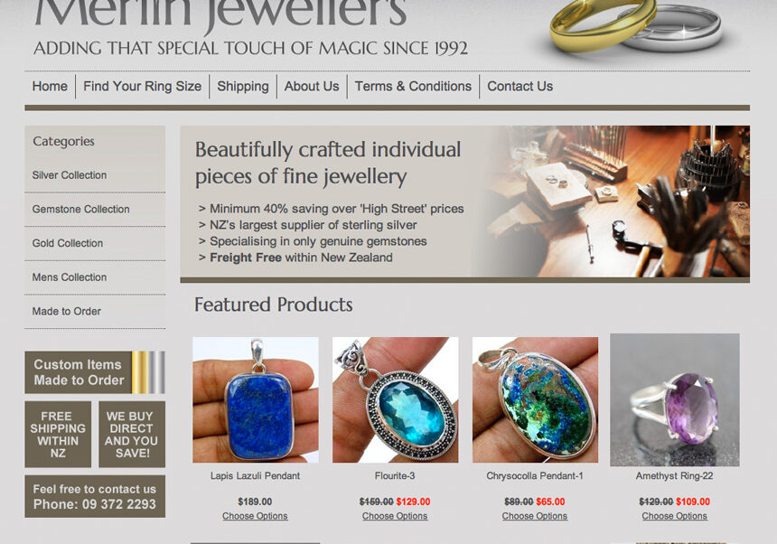 NZ jewellery website