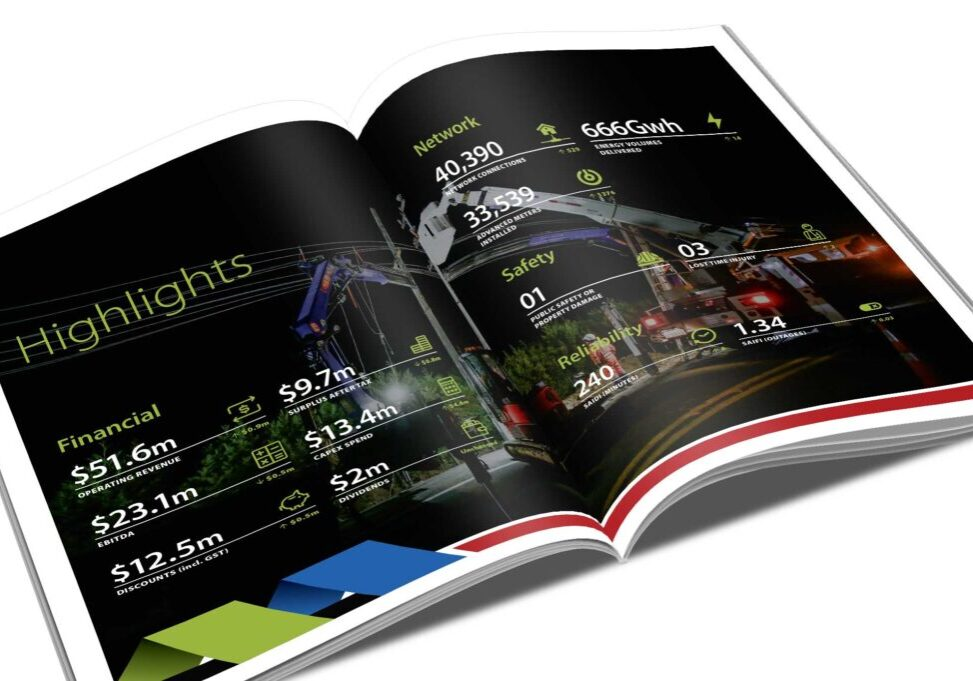 NTL Annual Report graphic design