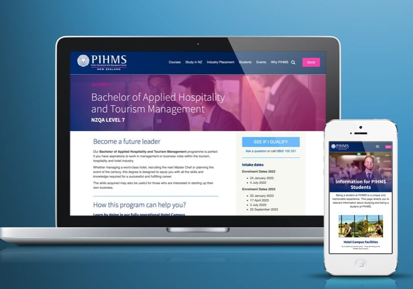 nz private tertiary education website design