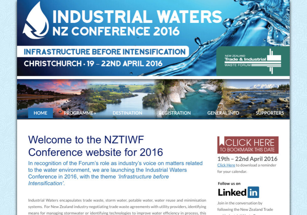 NZTIWF 2016 conference wordpress website