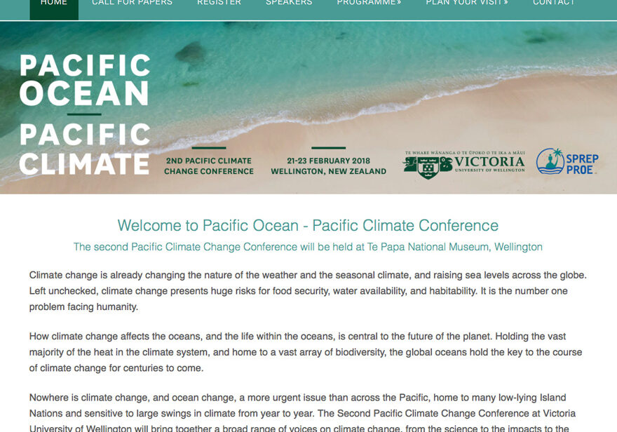 Climate Change wordpress web design