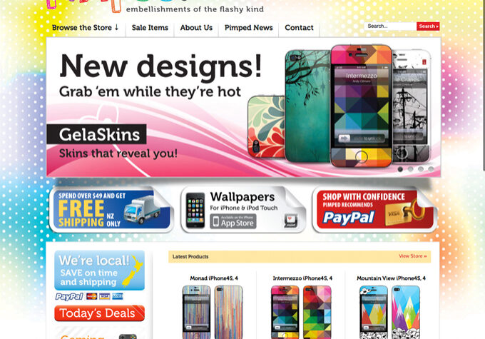 Gelaskins online shop NZ website