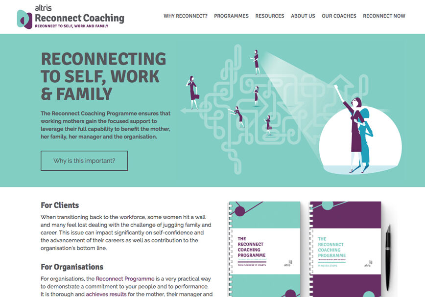 Coaching services website design