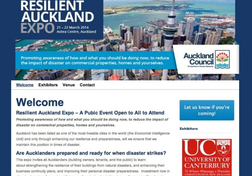 Auckland Expo website design