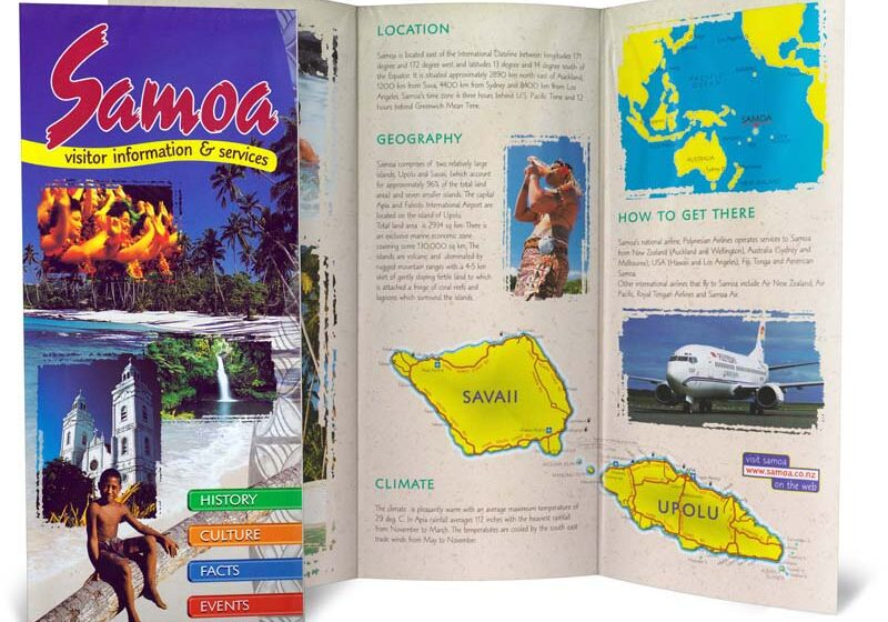 Samoa brochure layout design