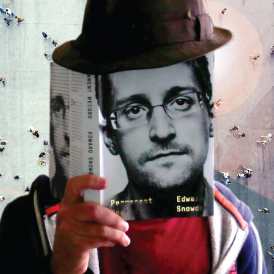 Edward Snowden anonymous book reader