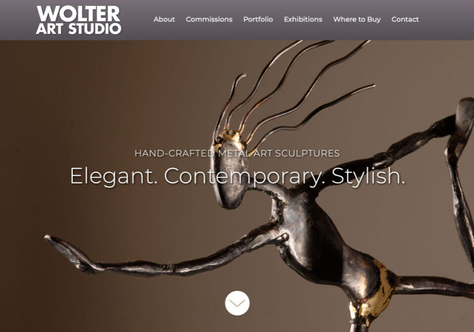 Wolter Art Studio portfolio website
