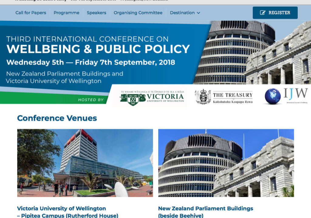 Wellington conference website design